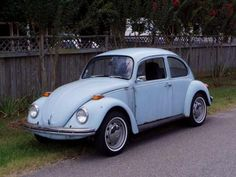 I think this was my fifth car.  I had a VW Beetle about this color and in about this condition.  I remember I could see the road going by through a hole in the floor.  It died and I left it in the parking lot of Samsel School and never saw it again.