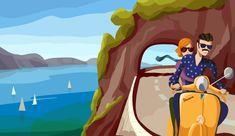 #illustration #vespa #italy #italia #trip #costa #vacaciones #hollyday #moto #style #fashion #cost #amalfita #sea #wayoflife Vespa, Illustration, Pikachu, Prints, Fictional Characters, Art, Vacations, Italia, Illustrations