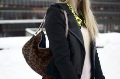 Leopard, leather and neon