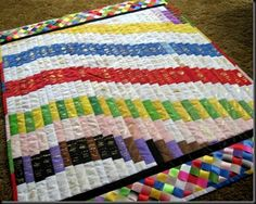 Amazing ribbon quilt...I don't have that many ribbons but if I did this would be great!- #babygoatfarm