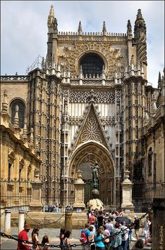 The Cathedral of Saint Mary of the See (Catedral de Santa María de la Sede), better known as Seville Cathedral, is a Roman Catholic cathedral in Seville, Andalusia, Spain Places Around The World, The Places Youll Go, Places To See, Around The Worlds, Cathedral Basilica, Cathedral Church, Gothic Cathedral, Beautiful World, Beautiful Places