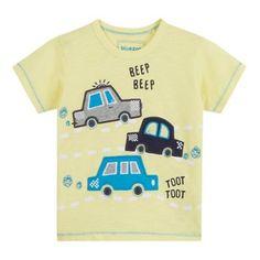 bluezoo Boys' yellow car applique t-shirt- | Debenhams