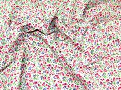 Floral Sprig Print Cotton Poplin Fabric   Fabric   Dress Fabrics   Minerva Crafts