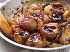 Glazed in a buttery sweet-tart sauce, these roasted shallots are an easy, elegant holiday side dish.