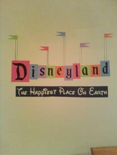 Retro Disneyland Sign Wall Vinyl by EJMKDesigns on Etsy, $20.00