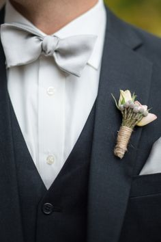 love the bow tie and the simple bout // image: Ben Elsass Photography