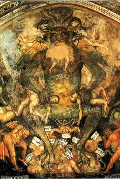 medieval pics and paintings   Hellmouth and Satan represantation in medieval paintings
