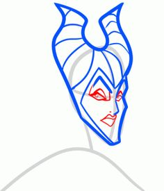 How to Draw Maleficent From Sleeping Beauty, Step by Step, Disney Characters, Cartoons, Draw Cartoon Characters, FREE Online Drawing Tutorial, Added by Dawn, August 11, 2013, 3:50:07 am