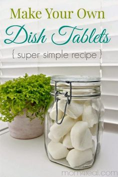 Easy Homesteading: Homemade Dishwasher Tabs DIY