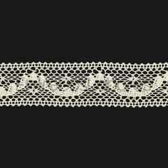 Entredós de encaje de bolillos de algodón mercerizado de 3,3 cm. (Disponible en 2 colores)
