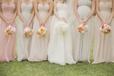 mismatched bridesmaids at my Burlington Golf and Country Club wedding