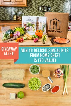 Enjoy delicious home cooking without the hassle! Enter to win 18 Home Chef meal kits (including ingredients and recipes) delivered right to your doorstep courtesy of @arouseappetites (A $170 Value)