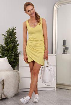 Sukienka Żółta 98930