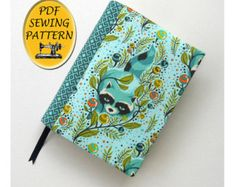 Notebook cover sewing pattern, with free book cover tutorial for any sized book jacket. A5 Journal cover pattern, PDF download