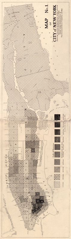 The New York City Population Density Map (1890 data): ► how things have changed. ◄