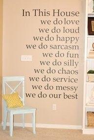 Wall #quote idea
