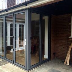 another set of our aluminium cornerless bifold doors in Kent.