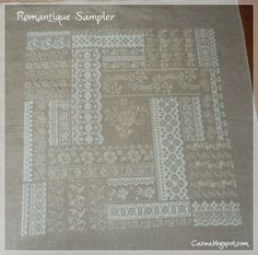Romantique Sampler, a design from Angie