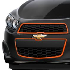 2016 #Sonic Grille, Inferno Orange (GCR): Go for the ultimate in customization for your Chevy Sonic. Designed for perfect fit and easy installation, this grille replaces the existing grille on your Sonic.