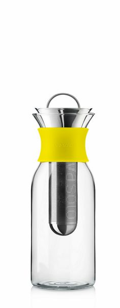 Eva Solo Ice Tea Maker, elegant shape and great splash of yellow | #saltstudionyc