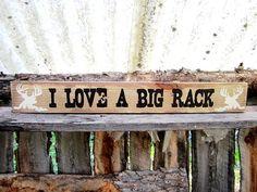 Hunting Deer Rack Buck Sign Montana Made Wooden by BearlyInMontana, $30.00