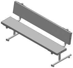 Aluminum Benches: Virtually maintenance free and easy to clean, Aluminum Benches are a great choice for dugouts, playgrounds and other outdoor seating needs. - Iowa Prison Industries