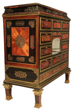 French Century Louis XIV Style Boulle Specimen Cabinet For Sale 1 Antique Furniture For Sale, Antique French Furniture, Furniture Sale, Furniture Collection, Vintage Furniture, Furniture Storage, Antique Wood, Antique Chest, Furniture Logo
