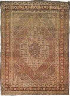 "Antique Persian Tabriz Rug, Circa 1900- 4'6""x 6'1"""