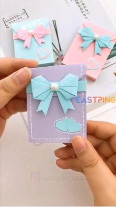 Cool Paper Crafts, Paper Crafts Origami, Diy Crafts For Gifts, Origami Art, Creative Crafts, Fun Crafts, Easy Origami, Origami Tutorial, Diy Gifts With Paper