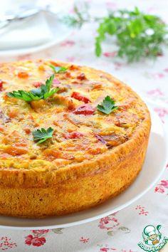 Пирог со сладким перцем и курицей - кулинарный рецепт