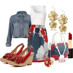 """""""Killer Skirt and Tank Combo"""" by snippins on Polyvore"""