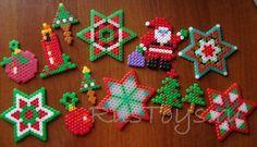Christmas ornaments perler beads