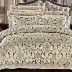 Luxury Bedding Set New Designer Bedding Sets Bed Sheet Jacquard Bedding Sets Duvet Cover Modern Bed Linen, Home Textile, Linen Bedding, Comforters, Duvet Covers, Pillow Cases, Textiles, Quilts, Blanket