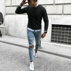 115 insanely cool casual outfit ideas – page 1 Rugged Men's Fashion, Stylish Mens Fashion, Latest Mens Fashion, Stylish Menswear, Men Fashion, Fashion Outfits, Blazer With Jeans Men, Blue Jeans Outfit Men, Blue Jean Outfits