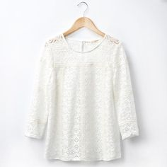 Blouse en dentelle SEZANE Formal Tops, Collection Capsule, Mode Style, Lace Tops, Work Fashion, Summer Looks, What To Wear, Ideias Fashion, Spring Summer