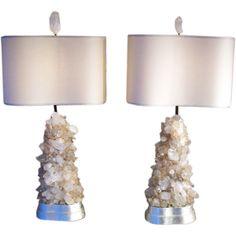 Vintage Rock Crystal Lamps.......