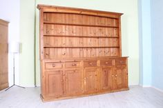 RUSTIC 7 FT PINE WELSH DRESSER, GREAT PAINTING PROJECT - CAN COURIER