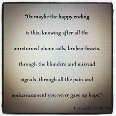 Won't give up hope <3