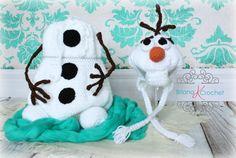 Olaf Snowman in Newborn Size by BrianaKcrochet on Etsy