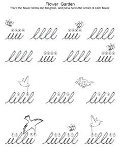 unique free worksheets to practice cursive handwriting or pre-cursive strokes