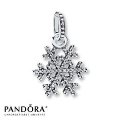 Pandora Pendant Clear CZ Sterling Silver