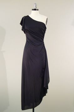 Vintage 1970s Disco Dress  Long Black Dress by BrassGiraffeVintage, $45.00
