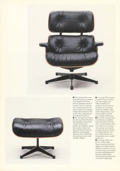 #Eames Lounge Chair and Ottoman Authentic by @vitra