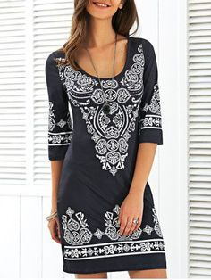 Scoop Neck Mini Printed Dress 34 Insanely Cute Street Style Looks That Will Make You Look Cool – Scoop Neck Mini Printed Dress Source Pretty Outfits, Pretty Dresses, Mode Outfits, Fashion Outfits, Cheap Fashion, Casual Dresses, Casual Outfits, Dress To Impress, Ideias Fashion