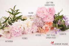 Pastel Flowers Bouquet - see full DIY tutorial on Flower Muse blog: http://www.flowermuse.com/blog/pastel-flowers-bouquet/