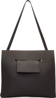 Chiyome - Black Leather Pierced Shoulder Bag