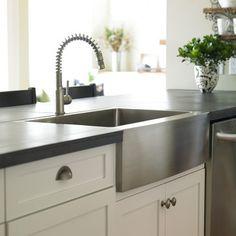 Gorgeous Farm Sinks For Kitchen Of Stylish Look : Exciting Stainless Steel Farm  Sinks For Kitchens Glass Tile Backsplash | Build My House Ideas | Pinterest  ...
