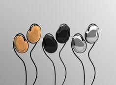 "Headsets ""Stones"" by Junonna Trotsiuk, via Behance"