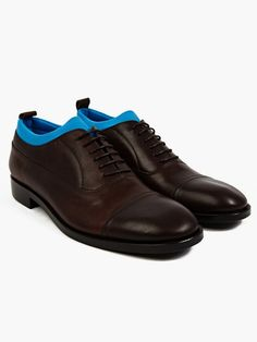 Maison Martin Margiela Men's Neoprene Insert Leather Oxford Shoes | oki-ni