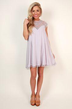 Romance in Venice Shift Dress in Lavender